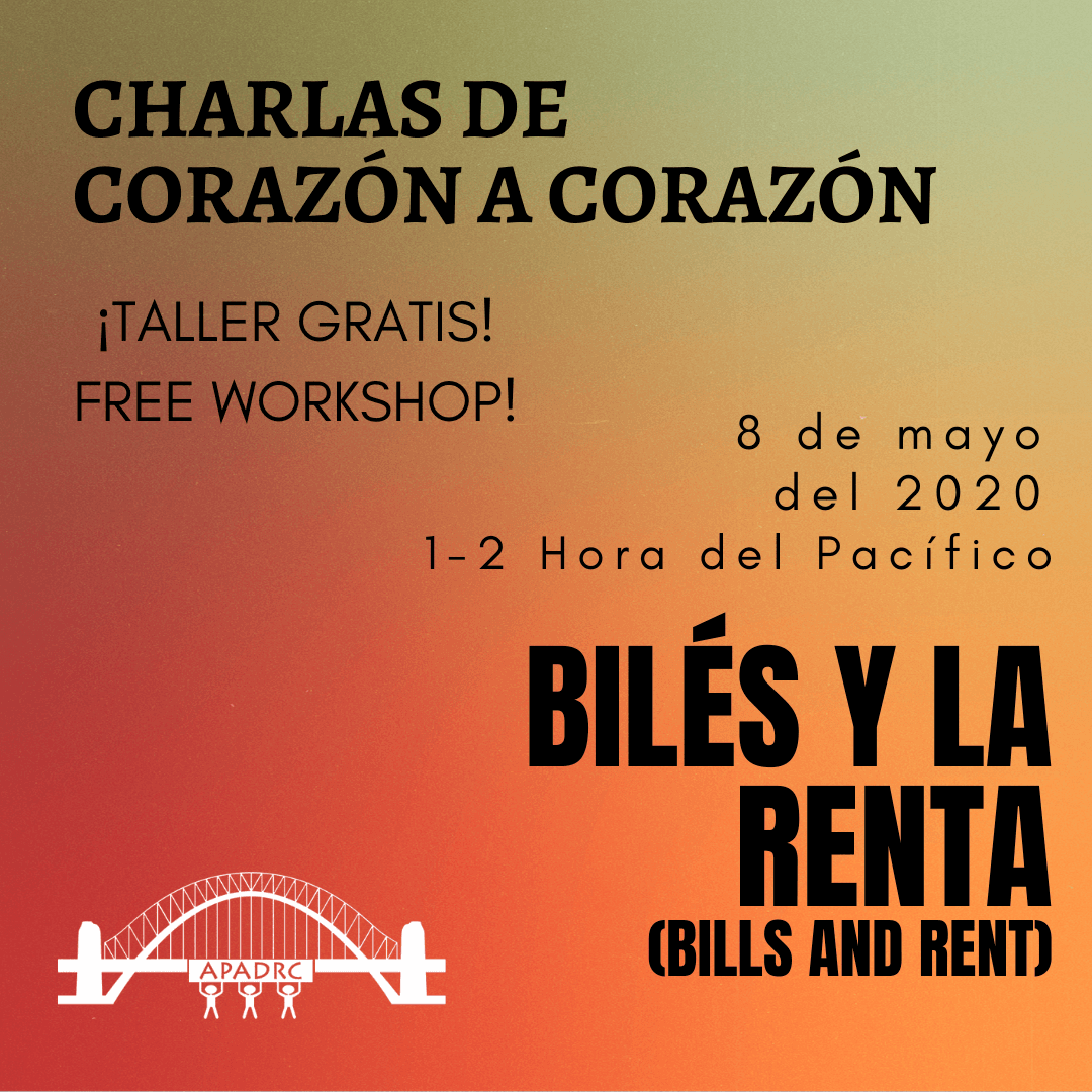 Free Spanish Workshop:  Biles y la Renta  (Bills and Rent)